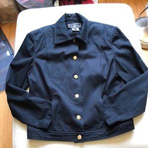 St. John Sport petite navy cotton jacket